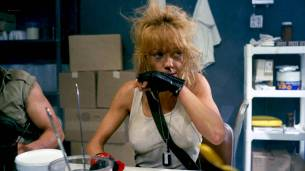 Linnea Quigley nude topless and sex in the shower - Creepozoids (1987) HD 1080p BluRay (12)