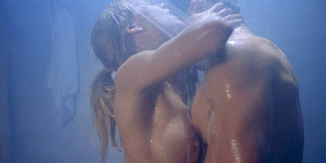 Linnea Quigley nude topless and sex in the shower - Creepozoids (1987) HD 1080p BluRay (3)