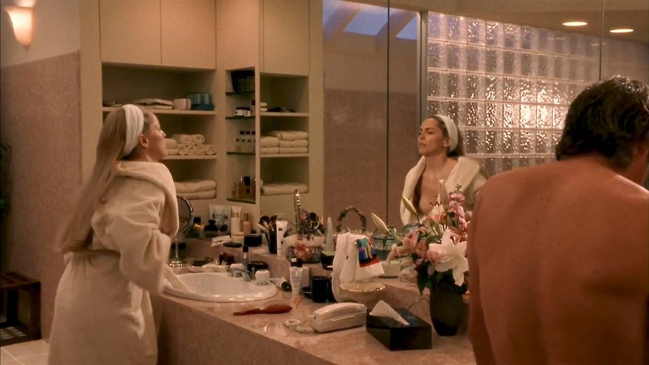 Lolita Davidovich nude topless and Sharon Stone nude brief nipple- Intersection (1994) HD 720p WEB (7)