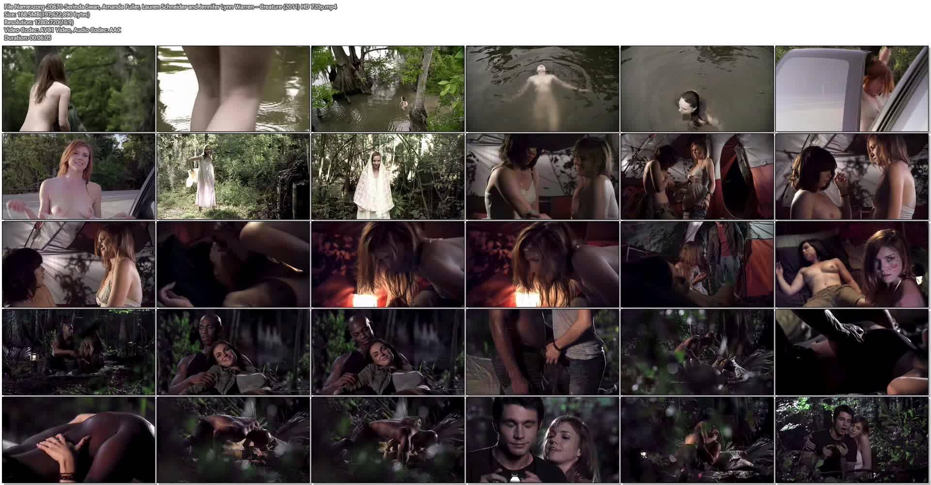 Serinda Swan hot Amanda Fuller, Lauren Schneider Jennifer Lynn Warren nude – Creature (2011) HD 720p (1)