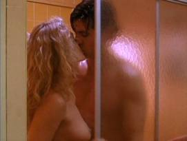 Beverly D'Angelo nude sex in the shower Sharon Farrell nude Rebecca Street bikini - Lonely Harts (1991)