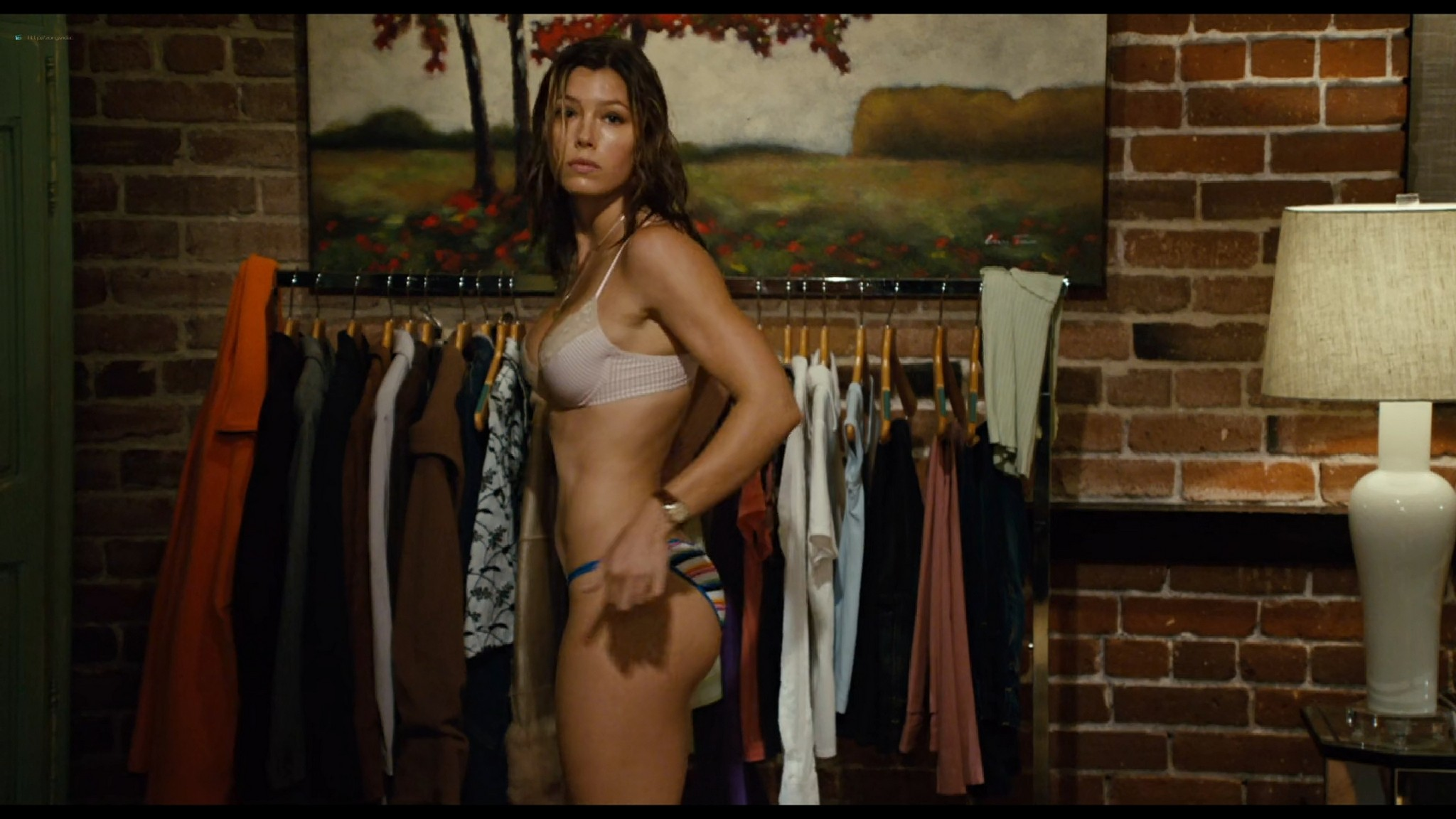 Jessica Biel hot sexy and Adam Sandler groping her boobs others sexy too - I Now Pronounce You Chuck & Larry (2007) HD 1080p BluRay (9)