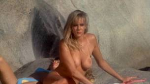 Teri Weigel nude topless Vickie Benson, Betsy Russell and other's hot and sexy - Cheerleader Camp (1988) (15)
