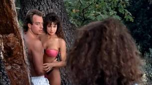 Teri Weigel nude topless Vickie Benson, Betsy Russell and other's hot and sexy - Cheerleader Camp (1988) (3)