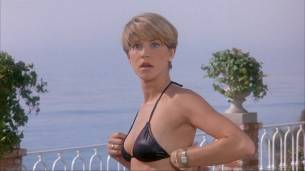 Loryn Locklin nude sideboob and hot in tong - Taking Care Of Business (1990) HD 1080p WEB 07