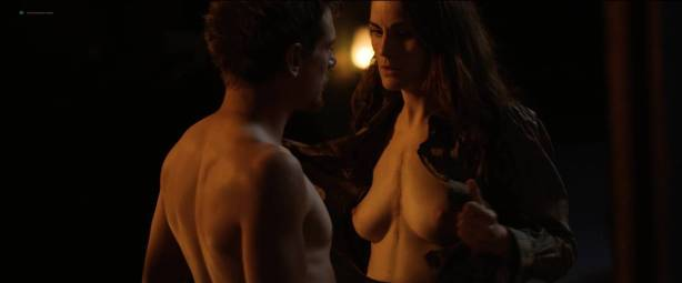 Michelle Dockery nude topless - Godless (2017) S1 HD 1080p Web (6)