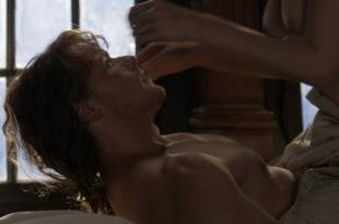 Caitriona Balfe nude brief topless in sex scene – Outlander (2017) s3e13  HD 1080p Web