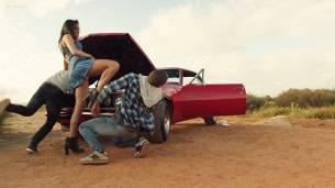 Christina Ochoa hot sexy and sex in the car - Blood Drive (2017) s1e1-2 HD 1080p (17)