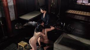 Joan Chen nude brief topless Sumi Mutoh nude bush, butt and boobs - The Hunted (1995) HD 1080p Web (2)