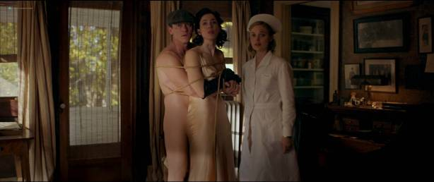 Rebecca Hall nude topless Bella Heathcote hot sex threesome - Professor Marston And The Wonder Women (2017) HD 1080p (2)