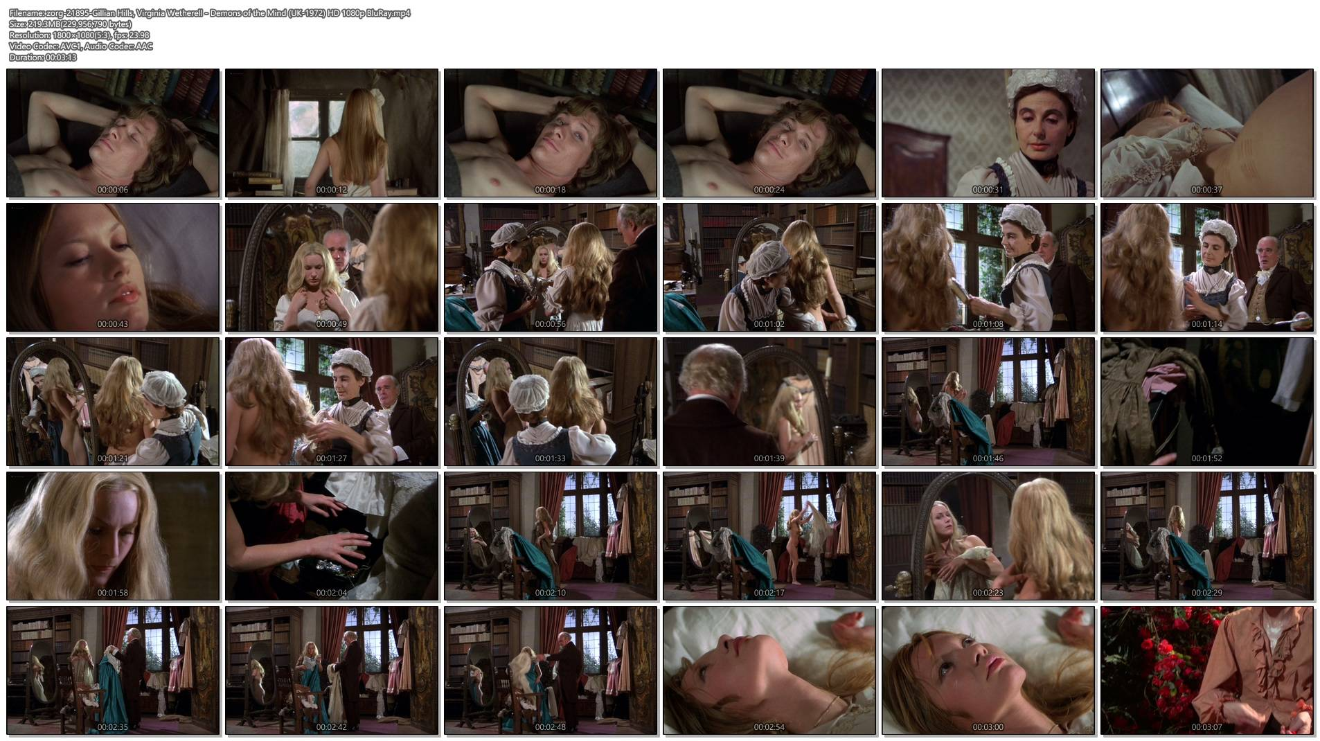 Gillian Hills nude topless Virginia Wetherell nude full frontal - Demons of the Mind (UK-1972) HD 1080p BluRay (1)