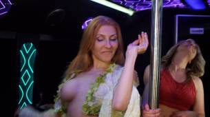 Stefani Blake nude toless Sadie Katz and others nude too - Party Bus to Hell (2017) HD 1080p (10)