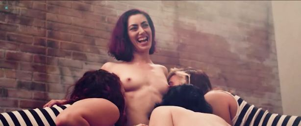 Tristan Risk nude topless Ellie Church, Kelsey Carlisle, and other nude too - Amazon Hot Box (2018) (9)
