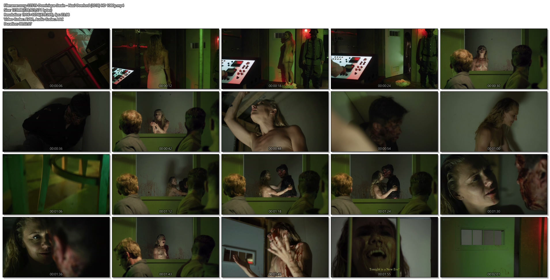 Dominique Swain nude butt and topless - Nazi Overlord (2018) HD 1080p (1)