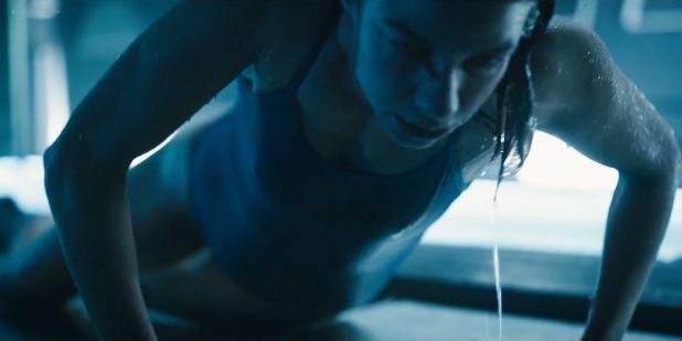 Natalia Tena nude sideboob in the shower - Origin s01e10 (2018) HD 1080p (5)