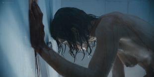 Natalia Tena nude sideboob in the shower - Origin s01e10 (2018) HD 1080p