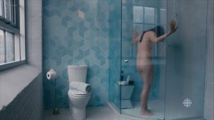 Catherine Reitman nude topless and butt in the shower - Workin Moms s01e12 (2017)