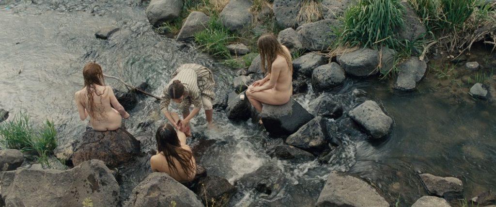 Hilary Swank nude bush Sonja Richter nude topless - The Homesman (2014) HD 1080p BluRay (13)