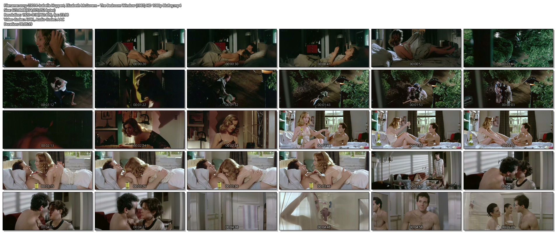 Isabelle Huppert nude topless and butt Elizabeth McGovern nude - The Bedroom Window (1987) HD 1080p BluRay (1)