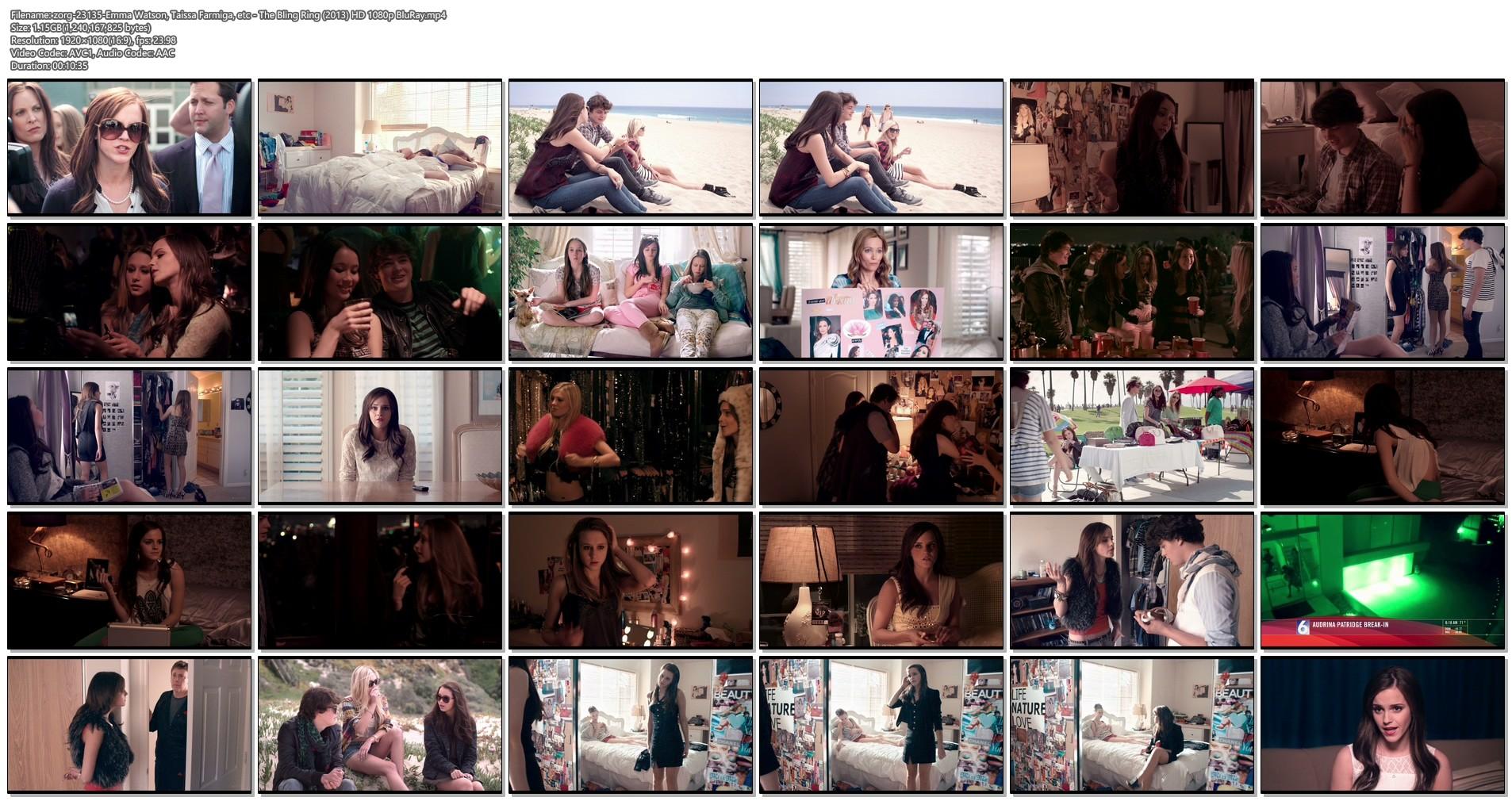 Emma Watson hot Taissa Farmiga and others sexy - The Bling Ring (2013) HD 1080p BluRay (1)