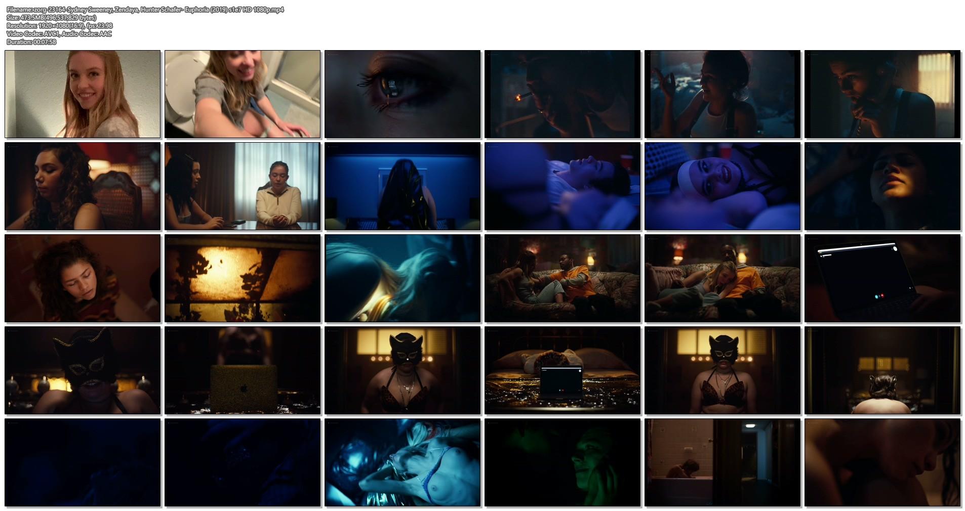Hunter Schafer nude topless, Sydney Sweeney, Zendaya hot - Euphoria (2019) s1e7 HD 1080p (1)