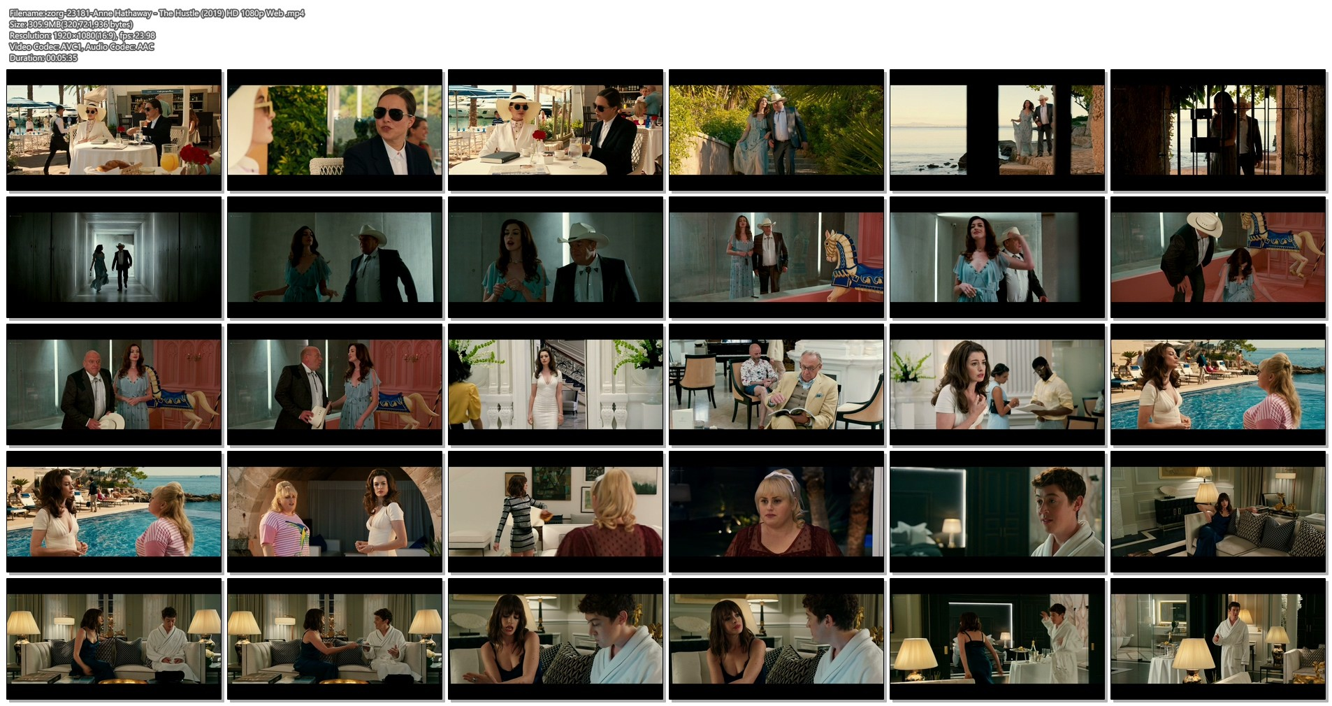 Anne Hathaway hot and sexy - The Hustle (2019) HD 1080p Web (1)