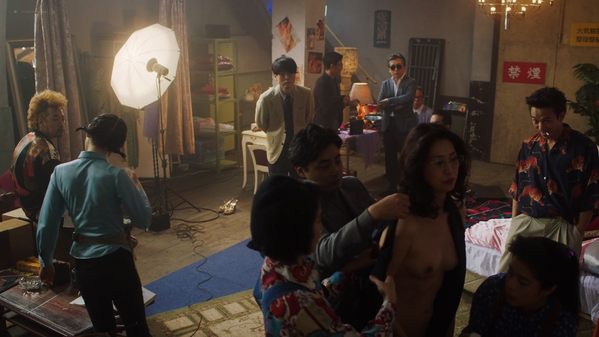 Misato Morita naked in the shower rest nude - The Naked Director (2019) s1e2 HD 1080p (11)