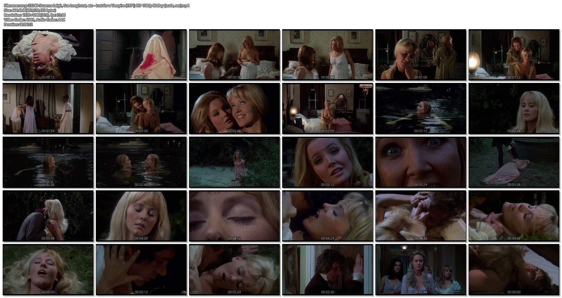 Suzanna Leigh nude Sue Longhurst and others nude topless - Lust for a Vampire (1971) HD 1080p BluRay (1)