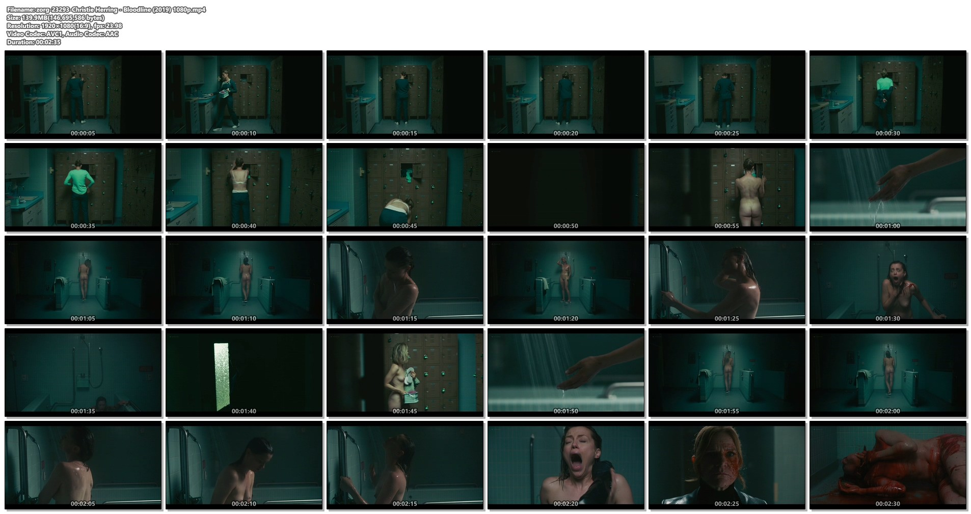 Christie Herring nude full frontal in the shower - Bloodline (2019) 1080p (1)