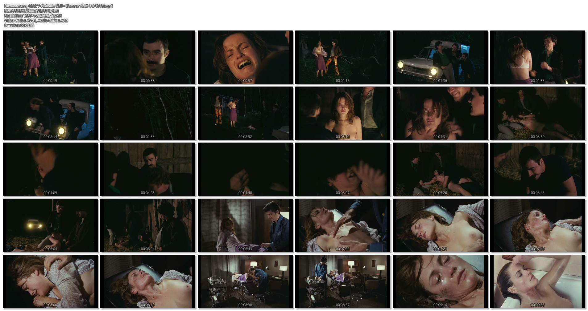 Nathalie Nell nude full frontal - L'amour violé (FR-1978) HD 720p (1)