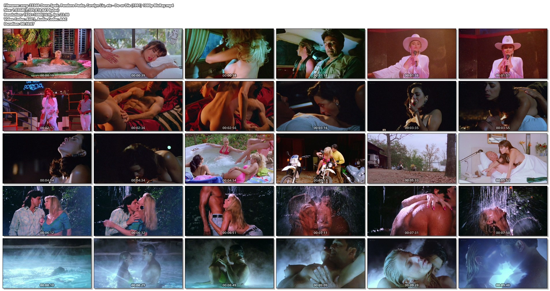 Dona Speir nude Pandora Peaks, Carolyn Liu and others nude too - Do or Die (1991) 1080p BluRay (1)