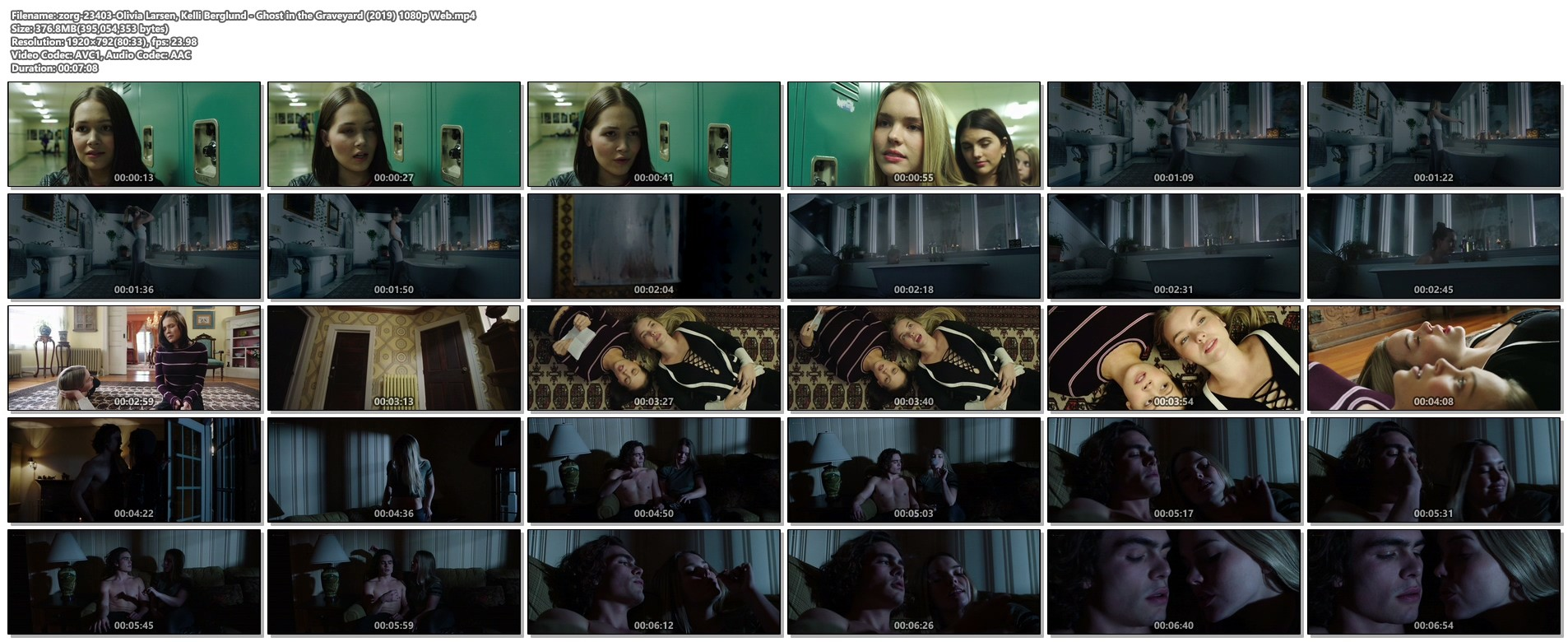 Olivia Larsen nude blurry and Kelli Berglund hot - Ghost in the Graveyard (2019) 1080p Web (1)