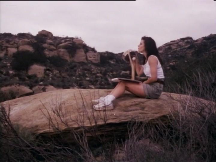 Courteney Cox nude nip slip and sex - Blue Desert (1991) (13)