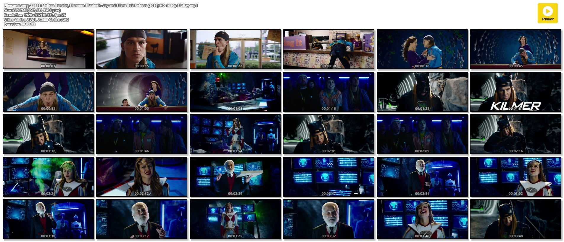 Melissa Benoist hot Shannon Elizabeth sexy - Jay and Silent Bob Reboot (2019) HD 1080p BluRay (1)