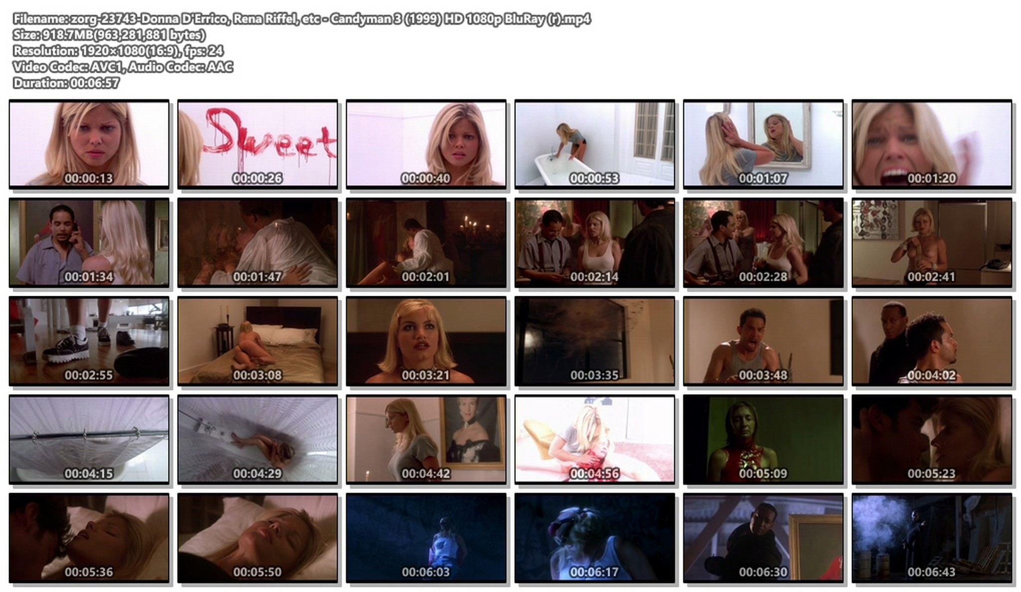 Donna D'Errico hot Rena Riffel and others nude - Candyman 3 (1999) HD 1080p BluRay (r) (1)