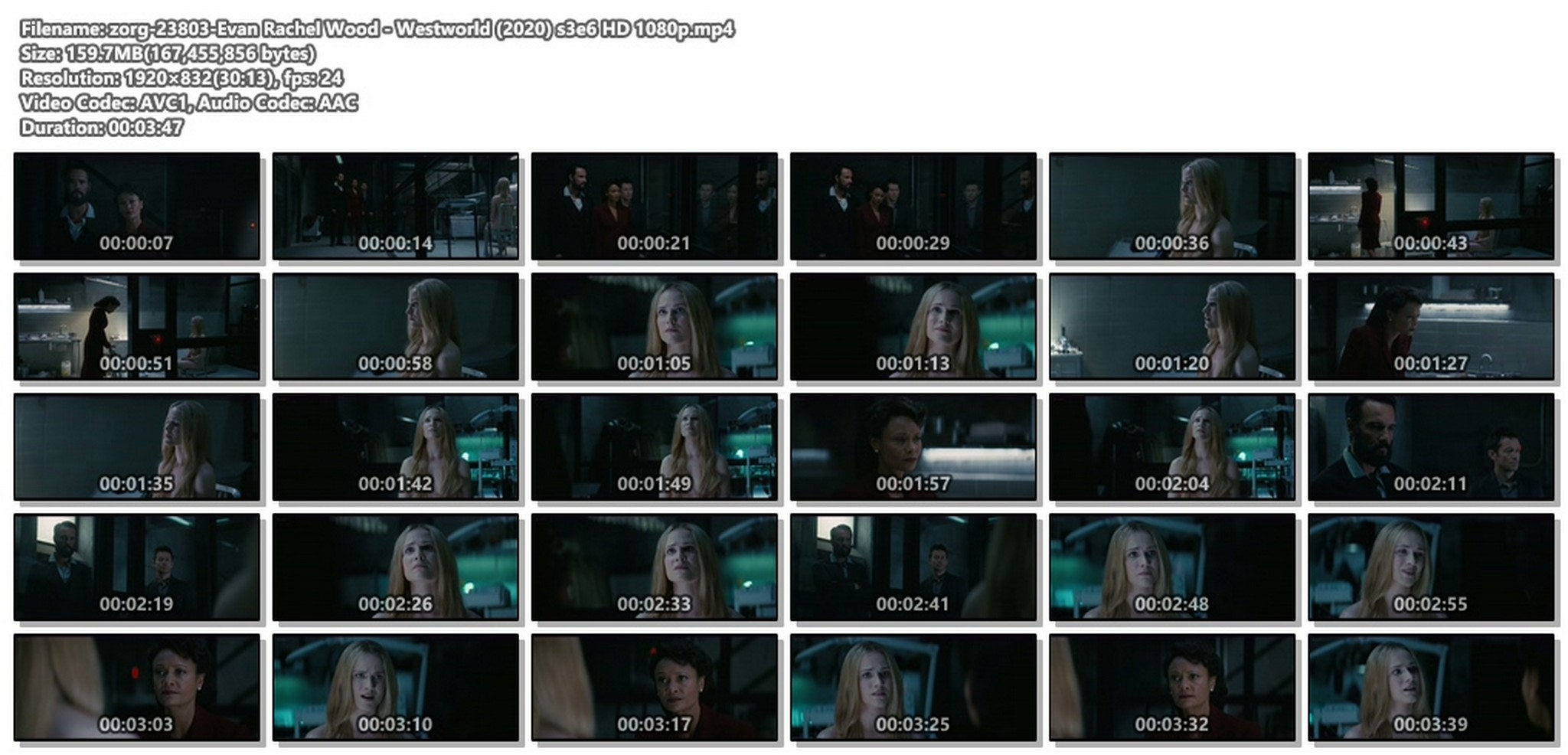 Evan Rachel Wood nude butt - Westworld (2020) s3e6 HD 1080p (1)