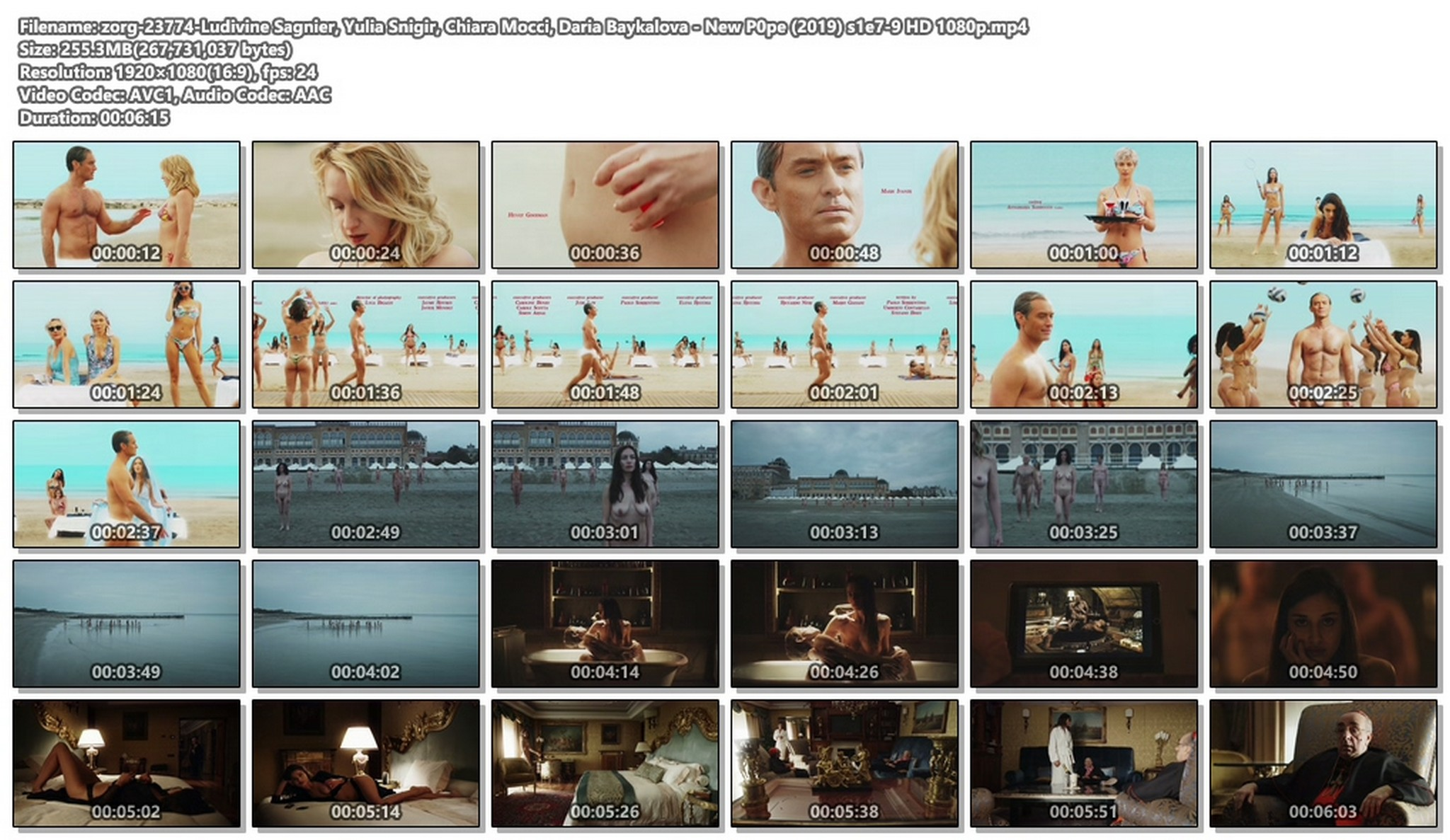 Ludivine Sagnier nude full frontal Yulia Snigir, Chiara Mocci, Daria Baykalova nude - New P0pe (2019) s1e7-9 HD 1080p (1)