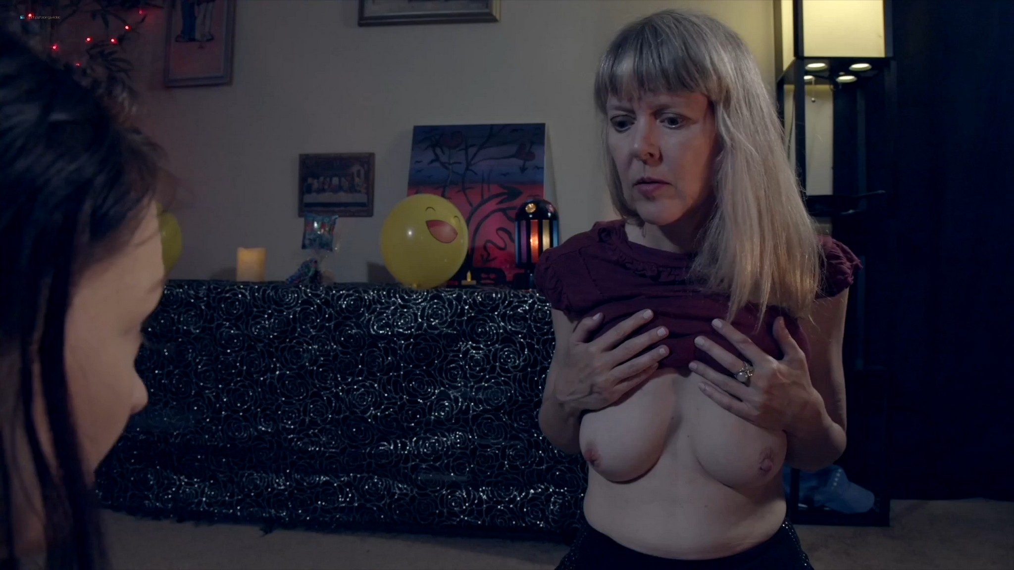 Sally Mullins nude topless Laura Dromerick nude too- Camp Blood 8: Revelations (2020) HD 1080p Web (4)