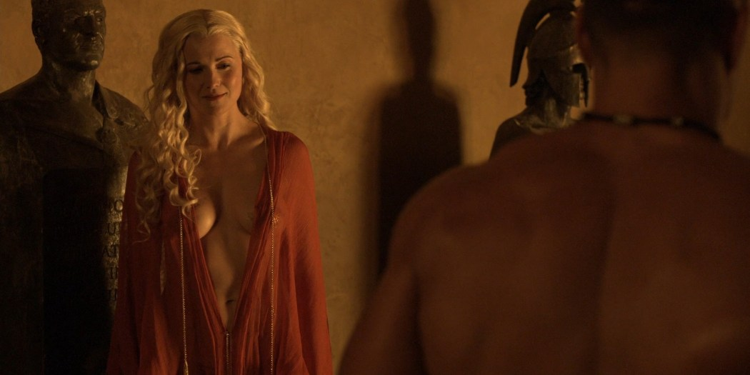 Lucy Lawless hot sex oral Lesley-Ann Brandt and others sexy - Spartacus - The Thing in the Pit (2010) s1e4-5 HD 1080p (15)