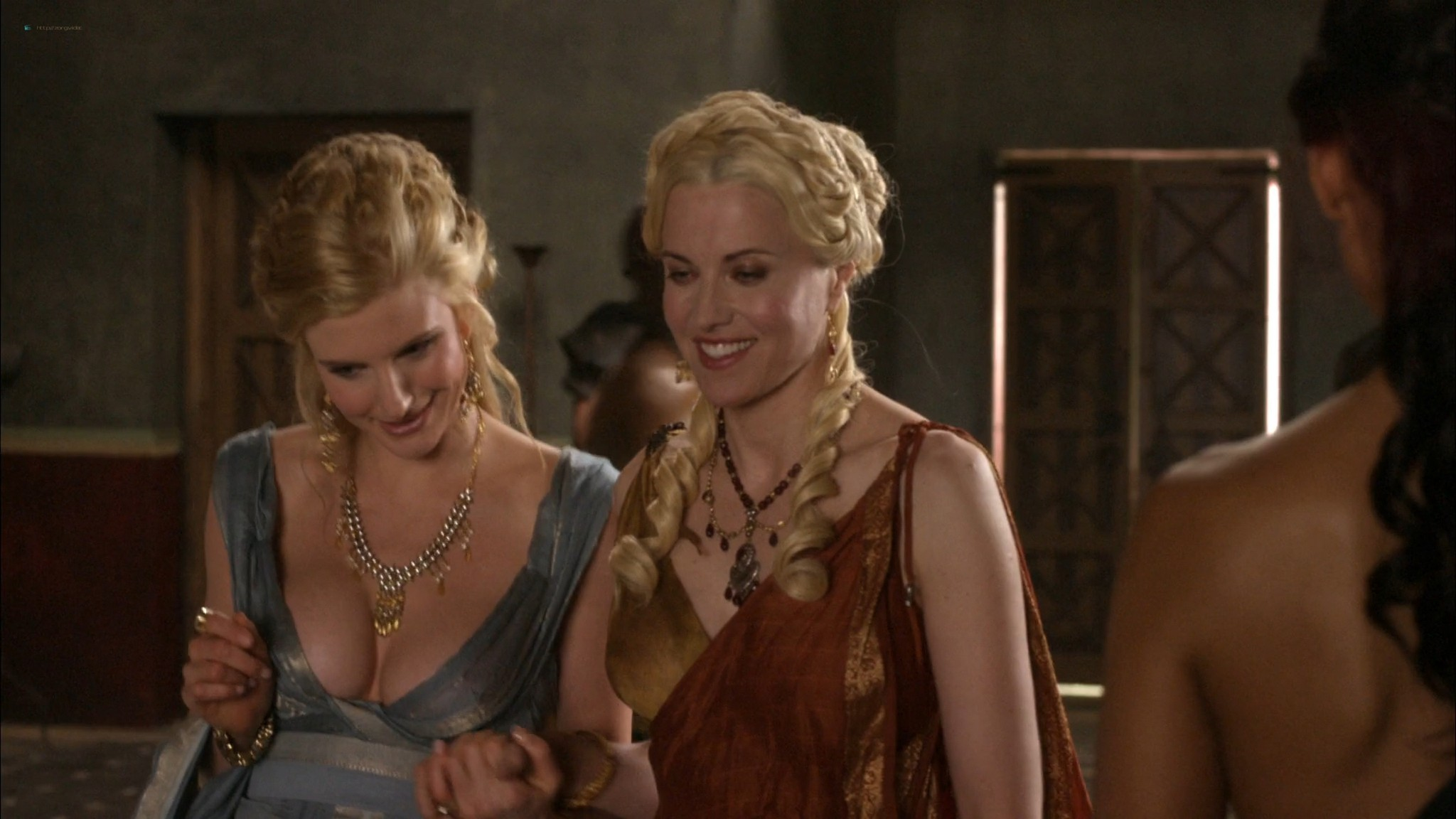 Lucy Lawless hot sex oral Lesley-Ann Brandt and others sexy - Spartacus - The Thing in the Pit (2010) s1e4-5 HD 1080p (7)