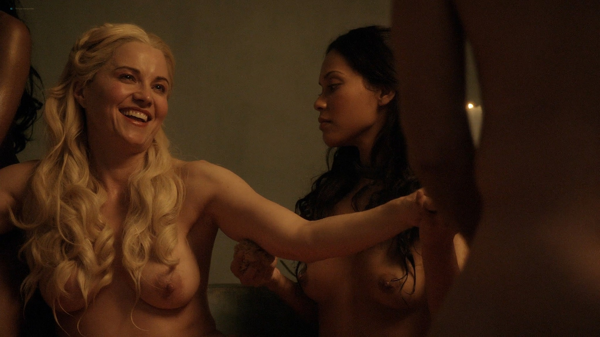 Lucy Lawless nude Lesley-Ann Brandt and other nude sex too - Spartacus (2010) Delicate Things s1e6 HD 1080p BluRay (11)