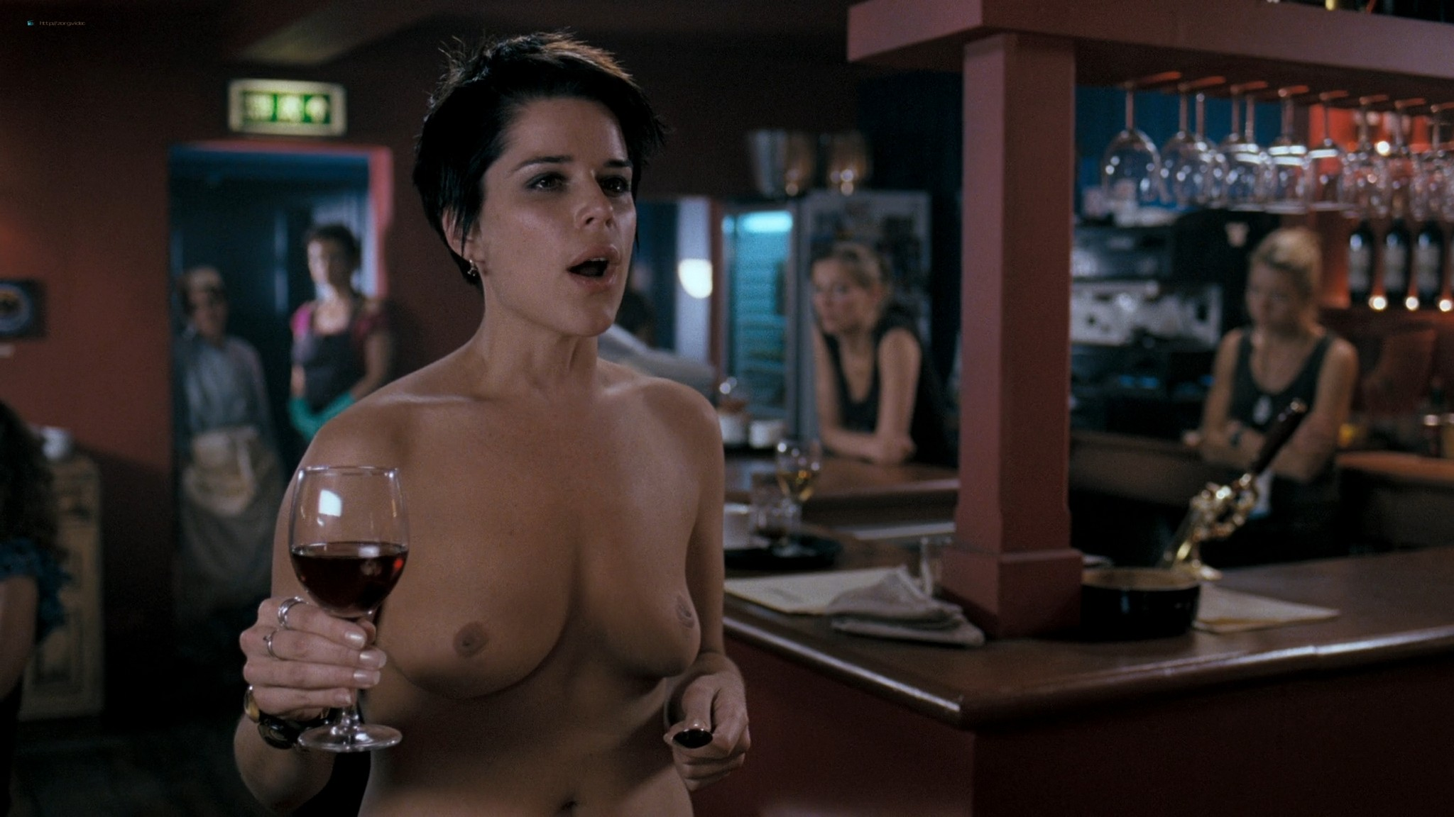Neve Campbell nude butt and topless - I Really Hate My Job (2007) HD 1080p Web (3)