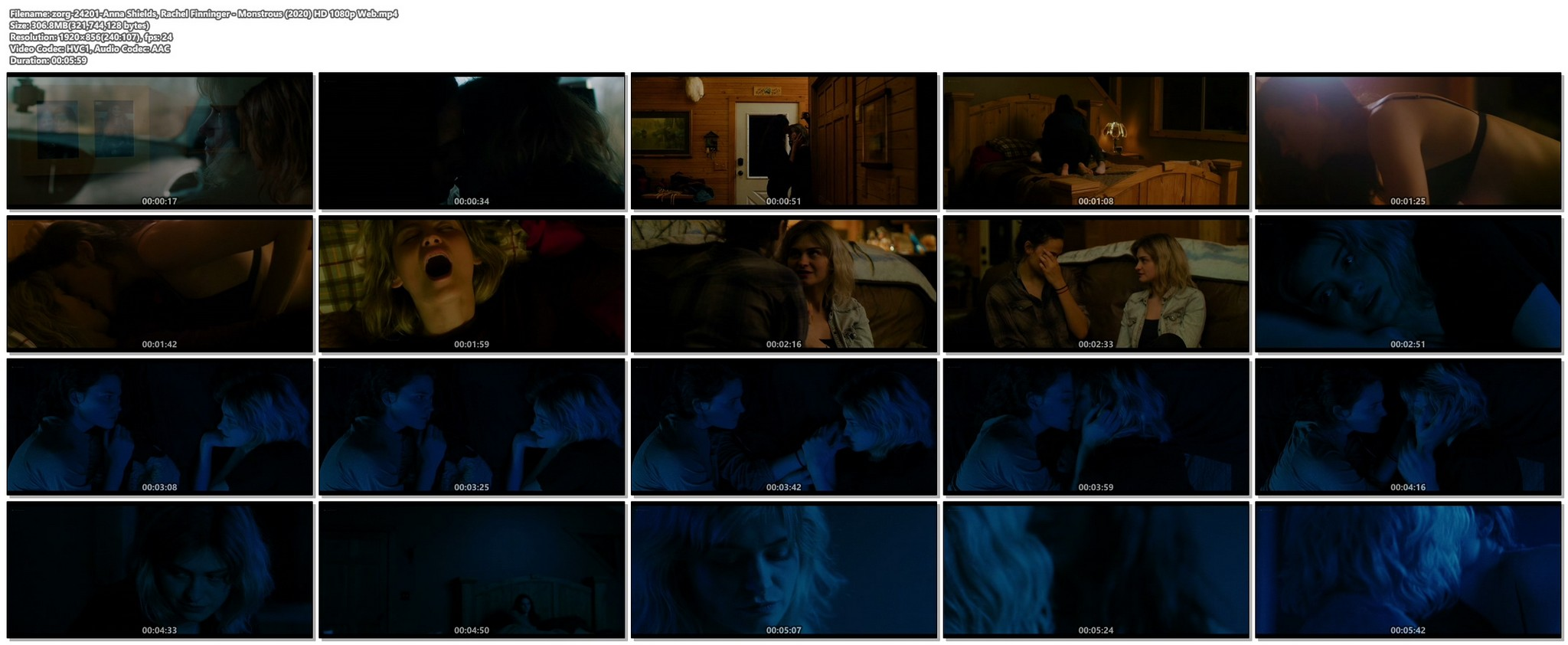 Anna Shields nude topless Rachel Finninger hot lesbian sex - Monstrous (2020) HD 1080p Web (1)