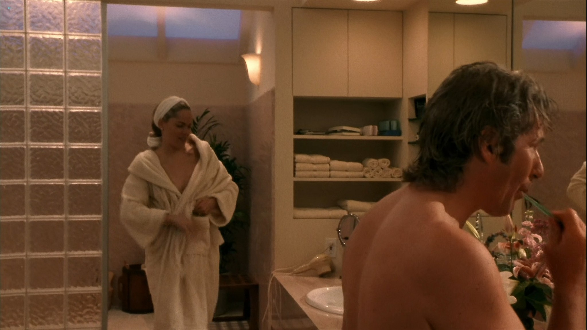 Lolita Davidovich nude topless and Sharon Stone nude in the shower - Intersection (1994) HD 1080p WEB (7)