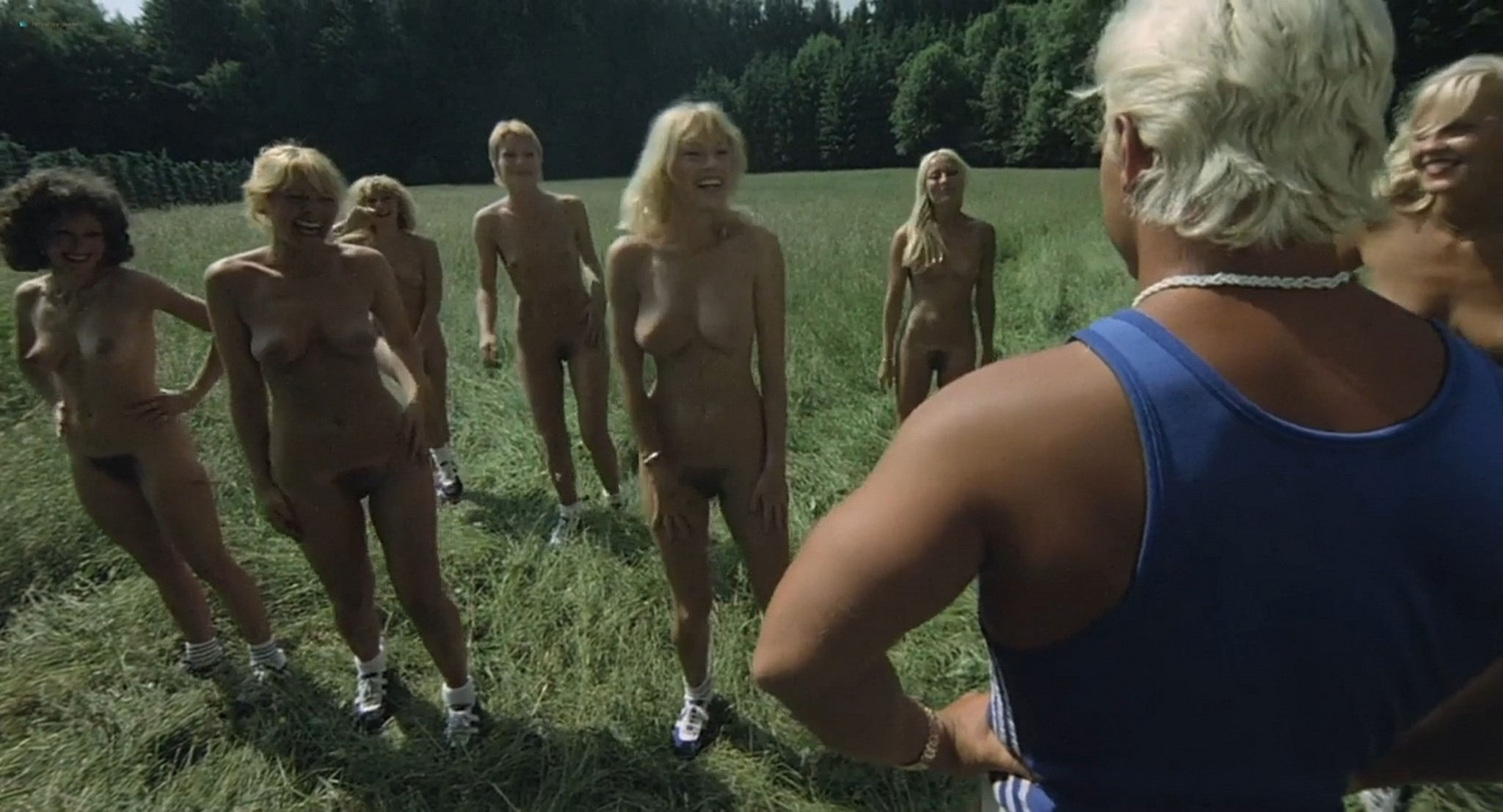 Brigitte Lahaie nude labia Nadine Pascal and other nude full frontal and sex Six Swedish Girls in a Boarding School 1979 HD 720p 011