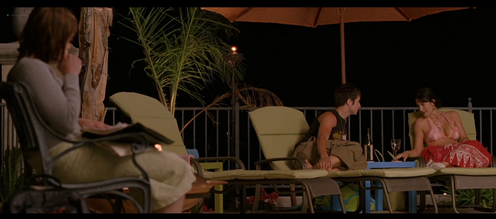 Carrie Anne Moss hot in bikini and Camilla Belle sexy The Chumscrubber 2005 HD 1080p 005
