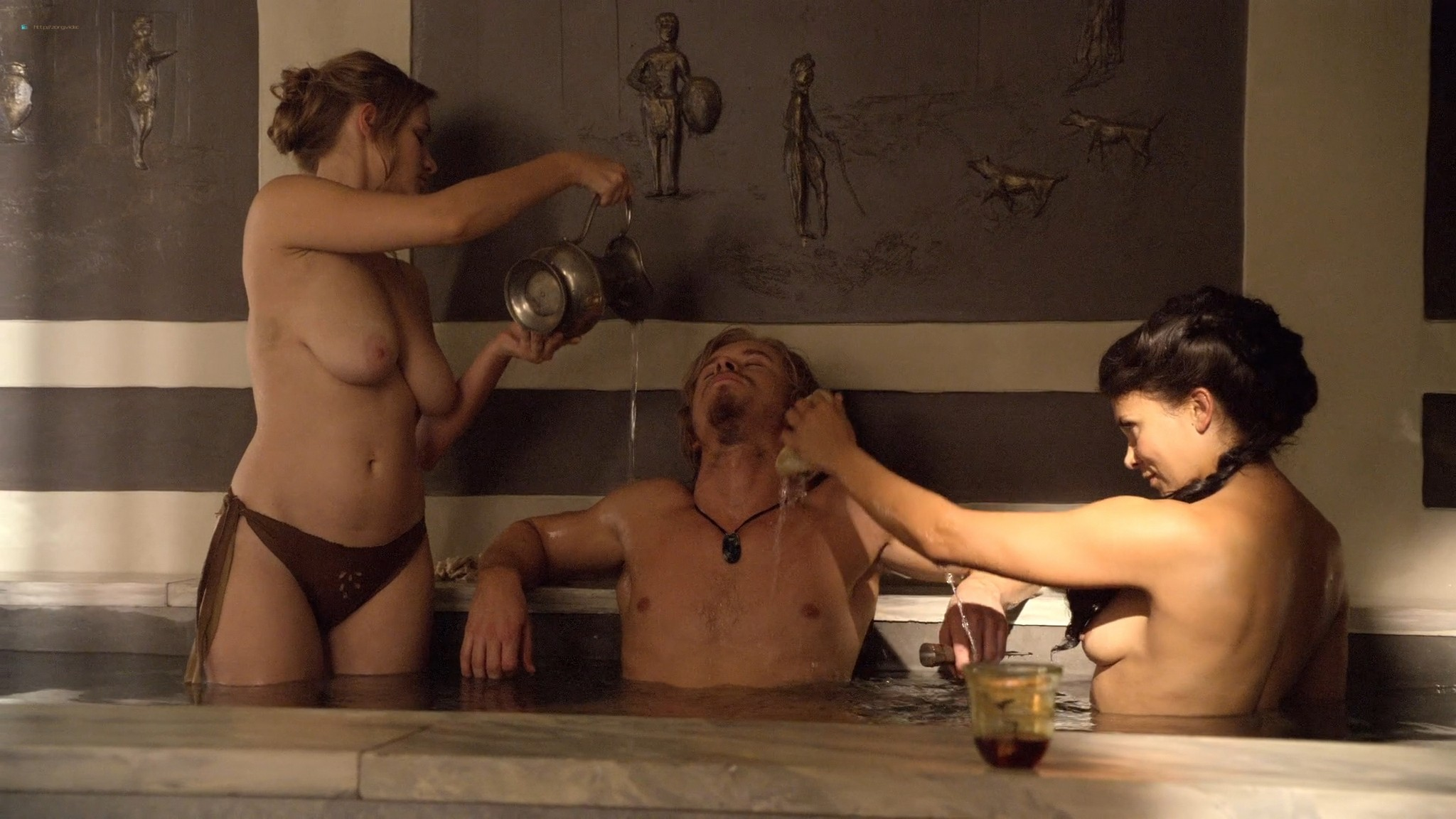 Ellen Hollman nude sex Jenna Lind Cynthia Addai Robinson and other nude Spartacus 2013 HD 1080p BluRay 012