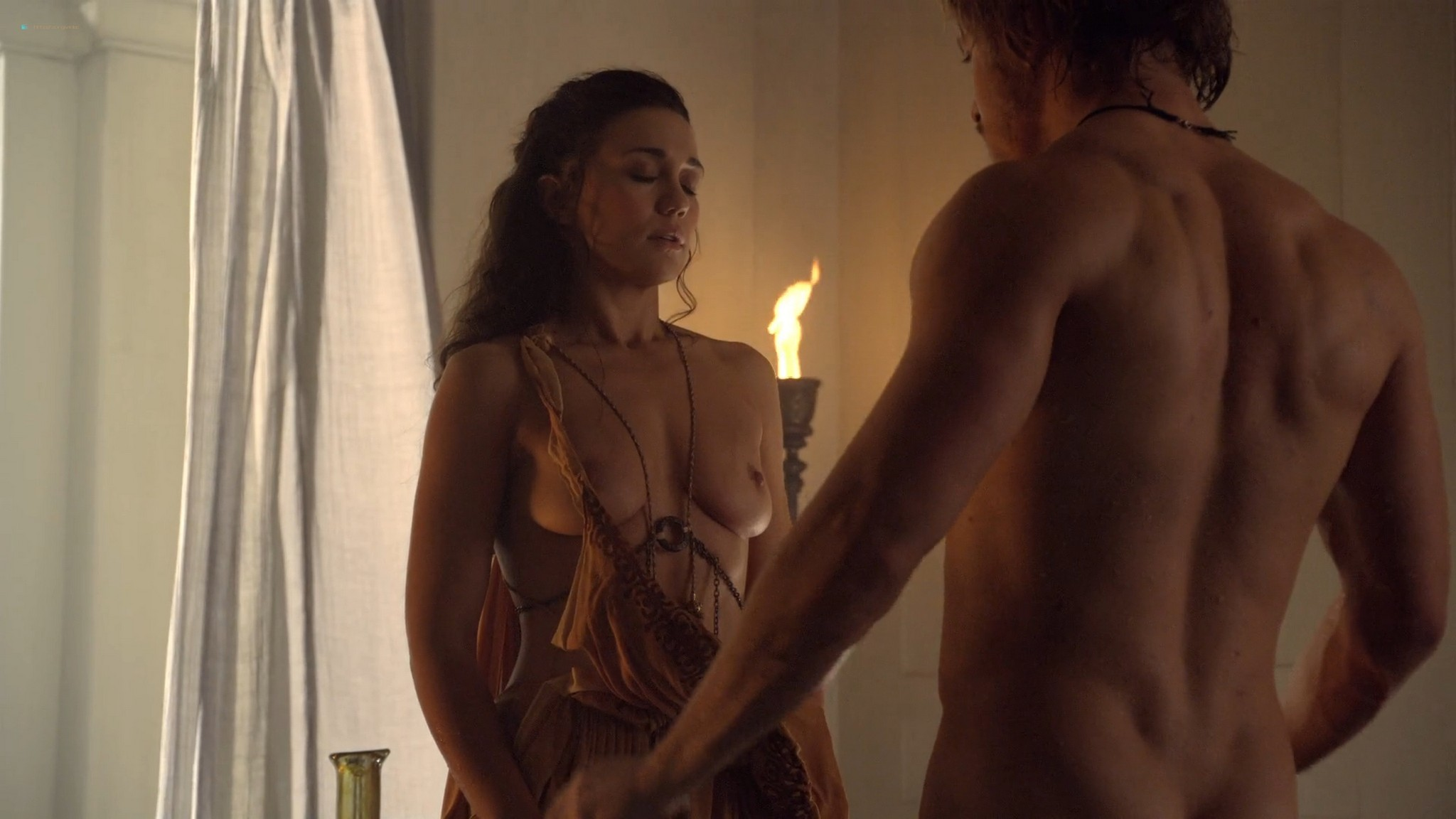 Ellen Hollman nude sex Jenna Lind Cynthia Addai Robinson and other nude Spartacus 2013 HD 1080p BluRay 014