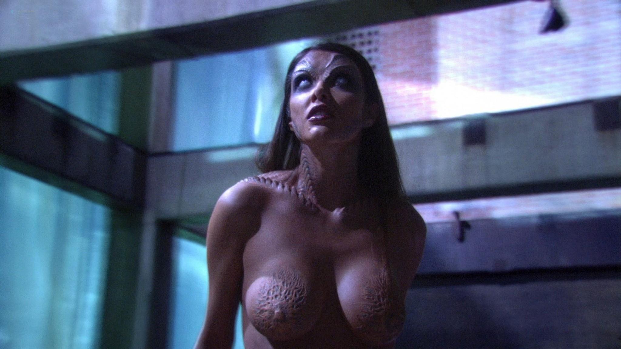 Helena Mattsson nude full frontal and Marlene Favela nude Species The Awakening 2007 HD 1080p BluRay REMUX 021