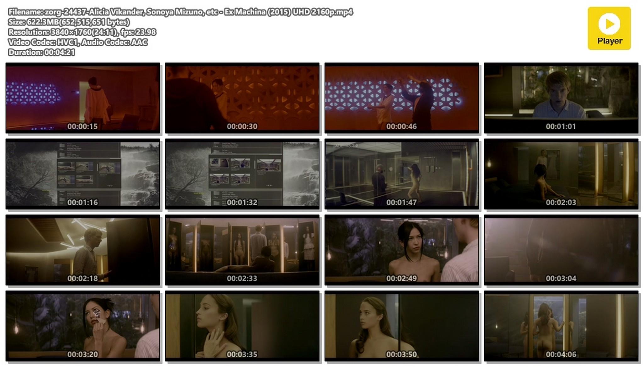 Alicia Vikander nude full frontal Sonoya Mizuno nude bush and others nude Ex Machina 2015 UHD 2160 1080p 019